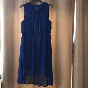 Pretty blue high low beaded dress